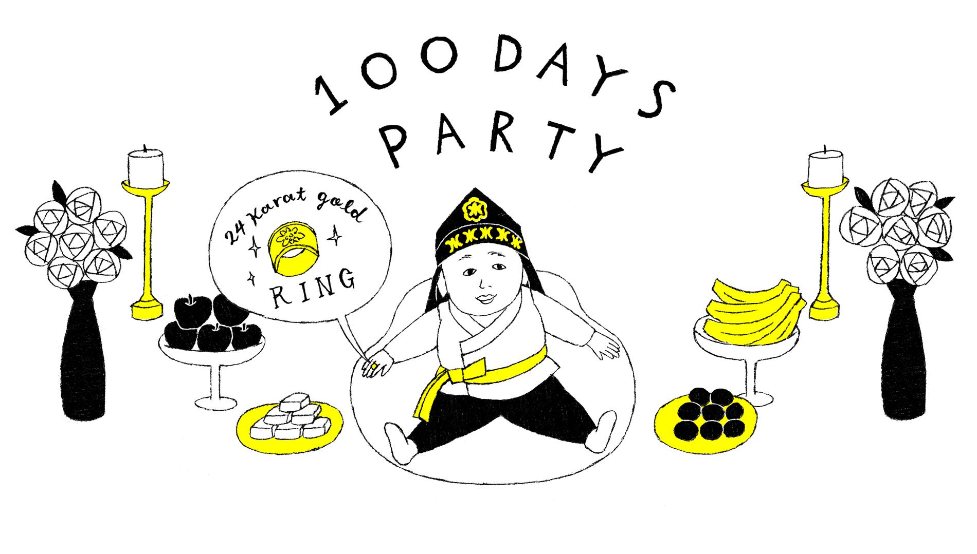 【韓国編】100日記念の可愛いギフト
